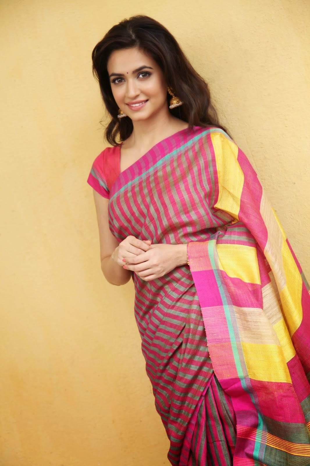 Telugu Actress Kriti Kharbanda Stills In Indian Saree - More Indian Bollywood Actress -2123