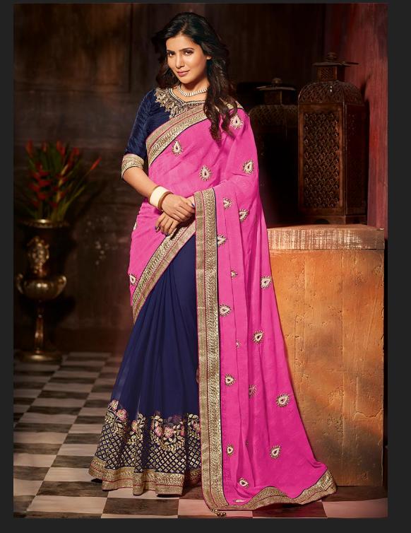 Samantha Ruth Prabhu In Saree - More Indian Bollywood Actress And Actors-8008