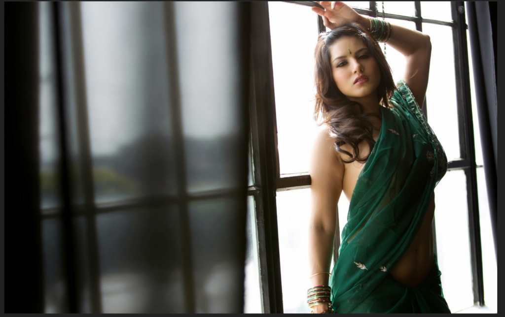 Sunny Leone In Green Saree - More Indian Bollywood Actress And Actors-6099