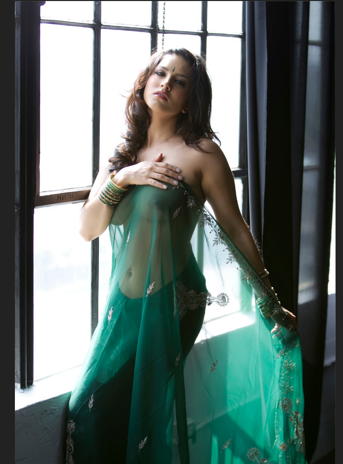 Sunny-Leone-In-Green-Saree-06 - More Indian Bollywood Actress And Actors-9156