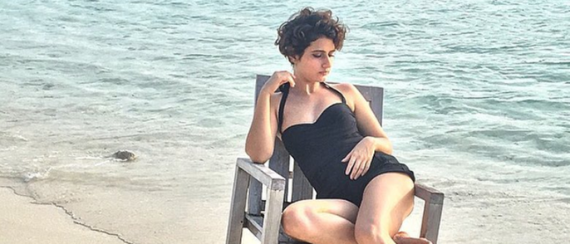 Actress Fatima Sana Shaikh posing off summer swimsuit photoshoot