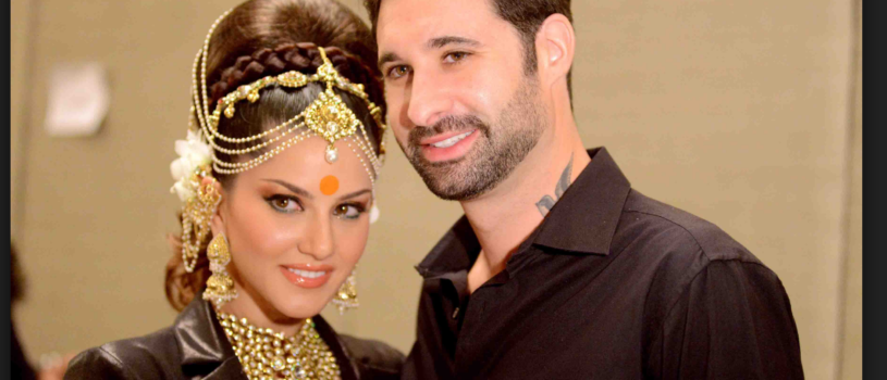 Indian film actress and ex pornstar Sunny Leone and her husband Daniel Weber.